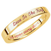 Love is the Key® Wedding Band