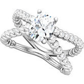 Split Shank Engagement Ring or Band Mounting