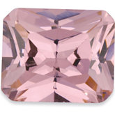 Emerald/Octagon Lab Created Pink Cubic Zirconia