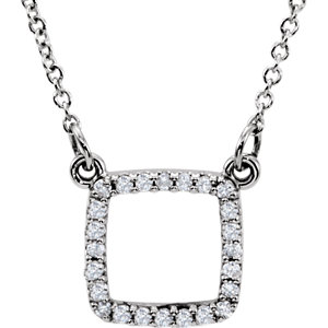Diamond Square Necklace or Center Mounting