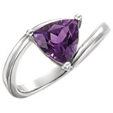 Amethyst Bypass Ring or Mounting