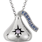 HERSHEY'S KISSES® Cubic Zirconia Birthstone Necklace
