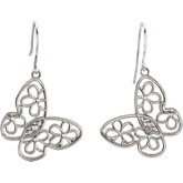 Butterfly & Floral Design Earrings