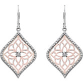1/10 ct tw Diamond Lever Back Earrings