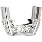 Oval 4-Prong Vintage Scroll Setting® for Earring Assembly