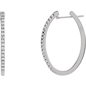 Diamond or Gemstone Hoop Earrings