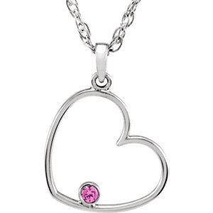 Diamond or Cubic Zirconia Heart Necklace or Pendant Mounting