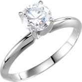 4-Prong Pre-Notched Solitaire Engagement Ring