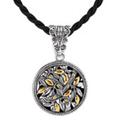 Two-Tone Filigree Design Fashion Pendant Enhancer