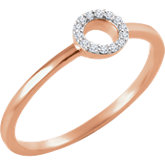 Diamond Circle Stackable Ring