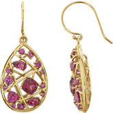 Rhodolite Garnet Nest Design Earrings or Mounting