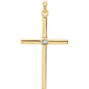 Diamond or Gemstone Cross Pendant or Mounting