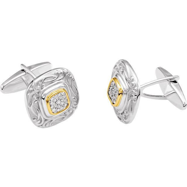 Diamond Cuff Links