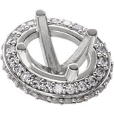 Oval 4-Prong Halo-Style Peg Setting