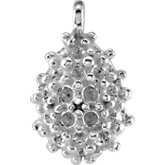 Pear Shape Pave Cluster Dangle for Round Stones