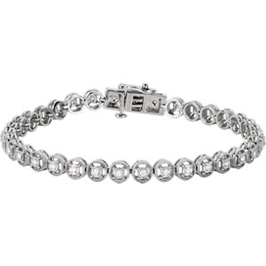 "14K White 1/2 CTW Diamond Line 7.25"" Bracelet"
