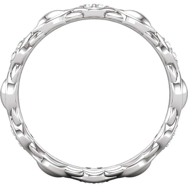 Platinum 1/8 CTW Diamond Sculptural-Inspired Eternity Band Size 7