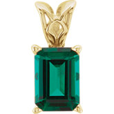 Emerald Scroll Setting® Pendant Mounting