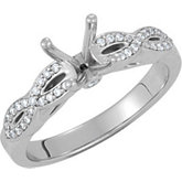 Diamond Engagement Infinity Design Ring or Band