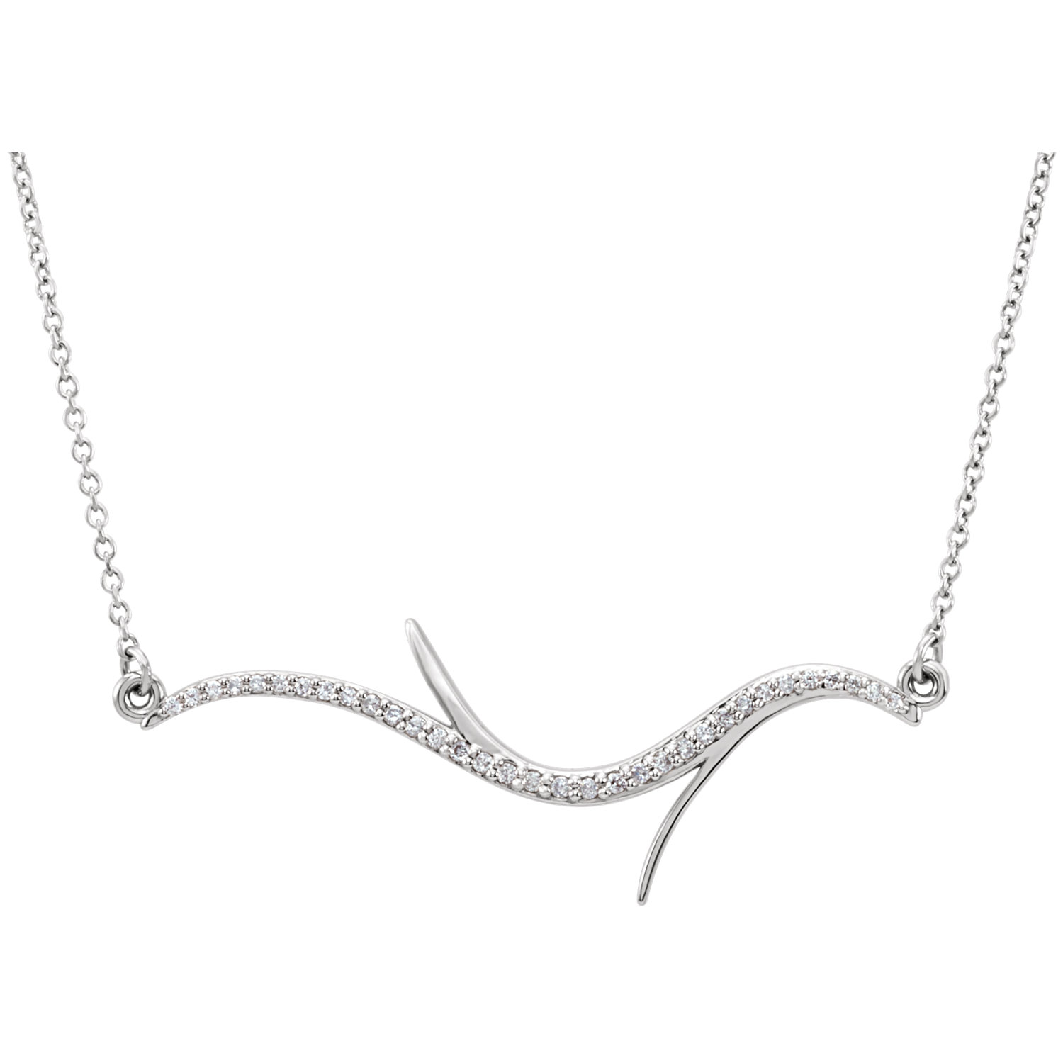 "14kt White 1/8 CTW Diamond 18"" Necklace"