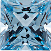 Square Chatham Created Aqua Blue Spinel
