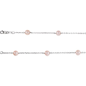 Sterling Silver Freshwater Cultured Pink Pearl 7