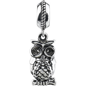 Sterling Silver 15x3mm Owl Charm