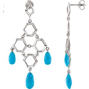 Missoma® Turquoise Chandelier Earrings