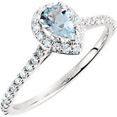 Halo-Styled Pear-Shaped Engagement Ring or Matching Band