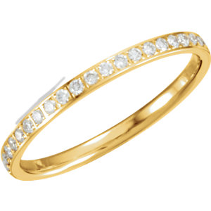 Diamond Eternity Machine Set Band