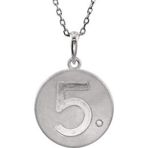 Numeric Disc Pendant with Accent