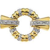 Diamond Accented Fold-Over Clasps