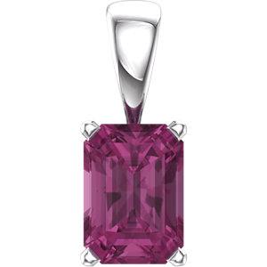 Emerald Gemstone Scroll Setting® Pendant or Mounting
