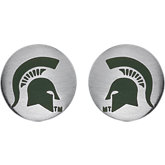 Michigan State Spartans Logo Stud Earrings
