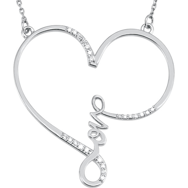 Sterling Silver 1/8 CTW Diamond