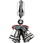 Kera™ Holiday Silver Bells Dangle