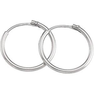 Platinum Fashion Hoop Earrings