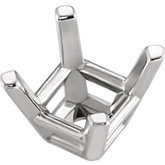 Princess/Square 4-Prong Tapered Wire Basket Setting