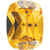 Antique Cushion Imitation Citrine