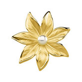 Flower Brooch with Pearl