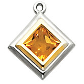 Two Tone Dangle Mounting for Square/Princess Center