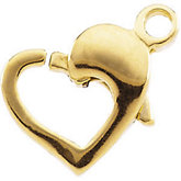 Heart-Shaped Lobster Clasp
