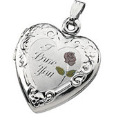Tri-Color Heart Locket with