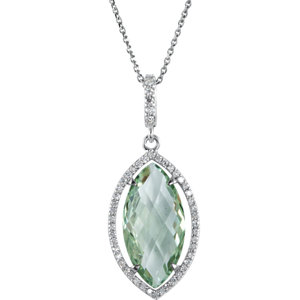Halo-Styled Marquise-Shaped Dangle Pendant or Necklace