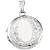Round Locket with Design