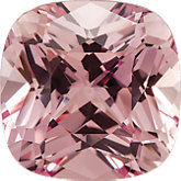 Antique Square Chatham Created Pink Champagne Sapphire