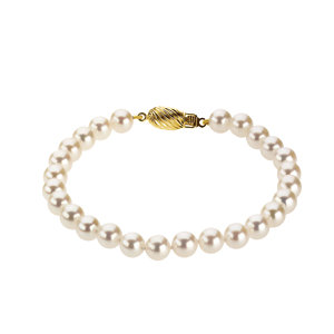 14kt Yellow 6-6.5mm Akoya Aultured Pearl 7