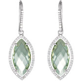 Halo-Style Marquise Shaped Dangle Earrings