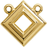 Square Bezel-Set Necklace Center Mounting