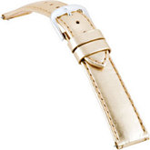 16mm Ladies Regular Ez-Change Gold Metallic Leather Watch Strap